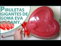 Piruletas de corazón gigantes de goma eva | Manualidades