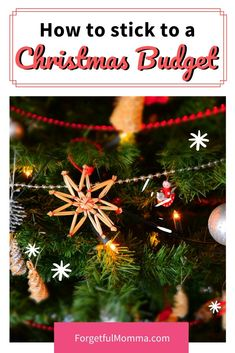 Keeping to a Christmas Budget this Year - Forgetful Momma Christmas On A Budget, Christmas Holidays, Christmas Ideas, Christmas Gifts, Christmas Decorations, Christmas Ornaments, Holiday Decor, Holiday Ideas, Family Traditions