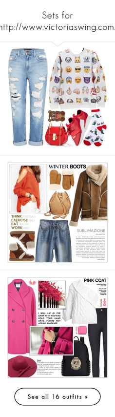 """Sets for http://www.victoriaswing.com/"" by lookat ❤ liked on Polyvore featuring Genetic Denim, Balenciaga, claire's, distresseddenim, See by Chloé, Lucky Brand, Glas Italia, Hudson's Bay Company, winterboots and Topshop"