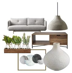 """""""Industrial lobby"""" by chesyj on Polyvore featuring interior, interiors, interior design, home, home decor, interior decorating, Serena & Lily, Art Addiction and industrial"""