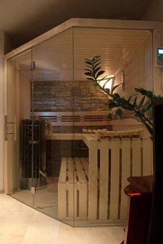 Eine Sauna Zuhause Mit Glasfront, Modernes Design, Individuelle Nach Ihren  Wünschen Geplant. Das Sind Die Luxus Element Saunen Von Apart Sauna.