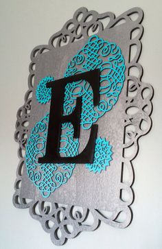 16x22 Framed Initial, Laser Cut Designs, Fully Customizable, by TheCraftyChicShoppe, $35.00