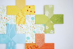 On the Plus Side Quilt Block | FaveQuilts.com