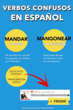 Verbos confusos en español: MANDAR y MANGONEAR [Podcast 041] Learn Spanish in fun and easy way with our award-winning podcast: http://espanolautomatico.com/podcast/041REPIN for later