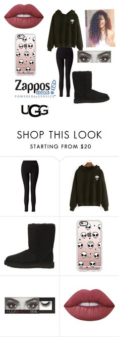 """The Icon Perfected: UGG Classic II Contest Entry"" by jazel117 on Polyvore featuring Miss Selfridge, UGG Australia, Casetify, Huda Beauty, Lime Crime, ugg and contestentry"