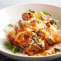 Spicy Turkey Lasagna {Skinny Slow Cooker Recipes}