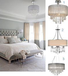 Romantic Bedroom with Chandeliers