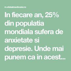 In fiecare an, 25% din populatia mondiala sufera de anxietate si depresie. Unde mai punem ca in aceste vremuri de restrictie aceste stari se intensifica si parca nu mai reusim sa vedem luminita de la Mai, Ayurveda, Biochemistry, Insomnia