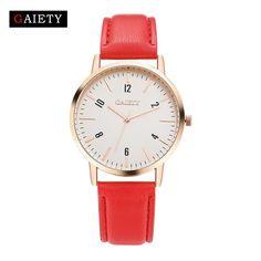 7541e44d9bd GAIETY Brand 2017 Leather Quartz Watch Women Top Fashion Wrist Watch Design  Silver Dial Sports Casual