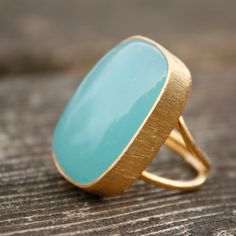 Large Blue Chalcedony ring from OhKuol