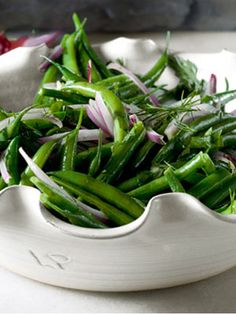 Green Bean Salad with Red Onions