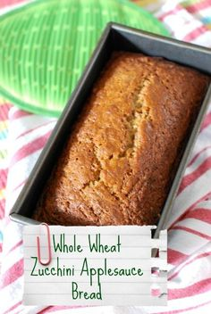 ### Whole Wheat Zucchini Applesauce Bread FROM The Naptime Chef IN Babble { 1/2 C sugar+fill half silicone mold}