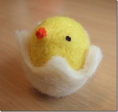 Make a little Woolen Chick for Easter.