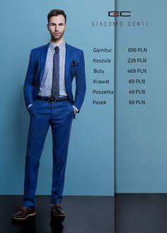 Stylizacja Giacomo Conti: garnitur Christiano 1 E15/16P, Koszula Biagio 15/01/41, buty 2676