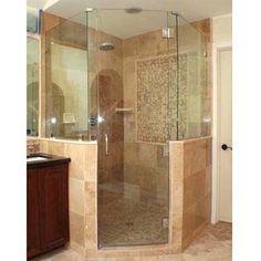 For M's bathroom and basement bathroom.  Corner shower.
