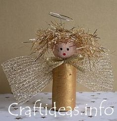 angel christmas craft idea - use a toilet roll instead...