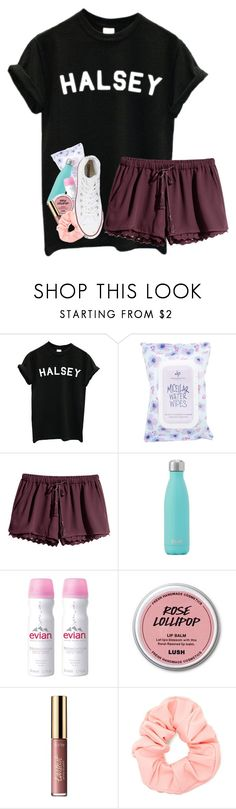 """""""in brooklyn """" by artsydoglovergabs ❤ liked on Polyvore featuring Charlotte Russe, H&M, Evian, tarte, Forever 21 and Converse"""
