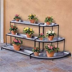 Elegant Tiered Metal Plant Stands With Stand