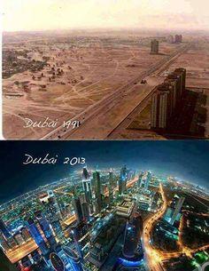 Já viram como o Dubai mudou em tão pouco tempo?