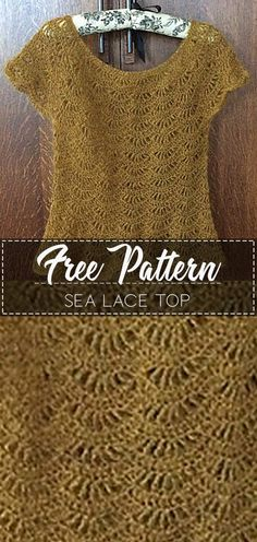Sea Lace Top – Free Pattern – Free Crochet
