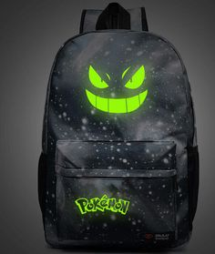 Cheap bag glass, Buy Quality bag fitness directly from China bag dior Suppliers: 2017 High Quality Galaxy Luminous Printing Backpack Pokemon Gengar Backpacks School Bags For Teenager Girls Mochila Feminina