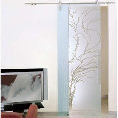 Puerta de cristal corredera vista  modelo Albero