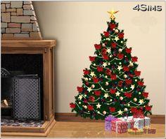 11 Christmas trees wall decals by Mirel at 4 Sims The Sims 4 Pc, Sims 3, Tree Decals, Wall Decals, Christmas Tree Wall Decal, Rustic Home Decor Cheap, Christmas Decorations, Holiday Decor, Christmas Trees