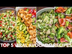 Top 5 (MEGA VIRAL) Avocado Recipes – Natasha's Kitchen Breakfast Recipes video recipe – The Most Practical and Easy Recipes Shrimp Avocado Salad, Avocado Salad Recipes, Avocado Salat, Chicken Salad Recipes, Chicken Avacado, Kitchen Recipes, Cooking Recipes, Clean Eating, Healthy Eating