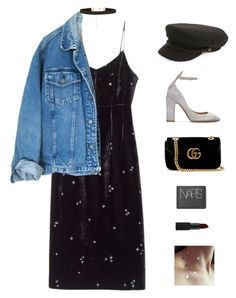 """Topaz."" by greciapaola ❤ liked on Polyvore featuring Valentino, Gucci, New Look and NARS Cosmetics"