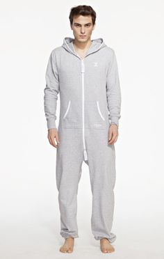 """This Luxury Unisex OnePiece Original Adult Onesie in Grey looks fantastic on both men and women. With a classic, original design and premium super soft cotton this onesie is the ultimate in chill out wear. 100% Cotton - Soft Lightweight fabric in 250gsm quality. 80% Cotton, 20% Polyester - Fleece lined soft fabric inside - 350gsm quality. Male model's height: 180 cm/5'9"""" - Model is wearing: Size Medium. Female model's height: 172 cm/5'6"""" - Model is wearing: Size SmallThe Original OnePiece®…"""
