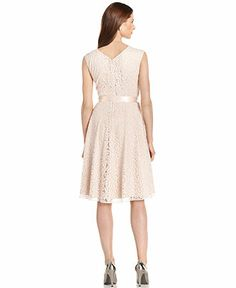 Tahari by ASL Sleeveless Glitter Lace Dress - Dresses - Women - Macy's