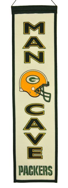 These uniquely shaped banners are the ultimate Man Cave Collectible! Our Man Cave Banner designs feature the teams logo and many include their word mark. Each banner is constructed with appliqué and e