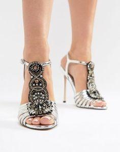 ASOS DESIGN - Hot Line - Sandali decorati con tacco Armadio Di Scarpe 9235424e914