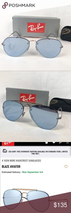 fb2a741f1dc NWT Ray-Ban Blaze Aviators BRAND NEW Ray Ban authentic aviators -bronze copper  frame -violet mirror lens comes with case