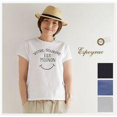 【espeyrac エスペラック】コットン プリント 半袖 Tシャツ(顔料) (1621010)