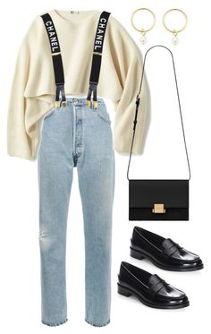 """Sin título #2391"" by alx97 ❤ liked on Polyvore featuring RE/DONE, Uniqlo, Chanel, Renvy, Tod's and Yves Saint Laurent #casualwinteroutfit"