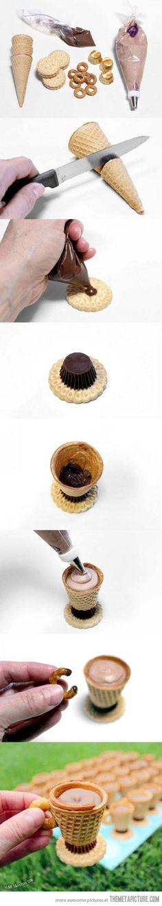 Eating dessert like a sir…