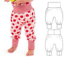 Baby pants pattern // pdf download // baggy balloon style //