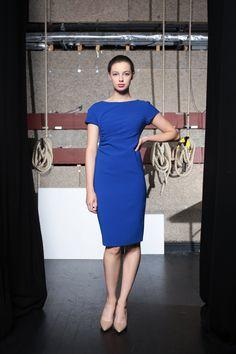 Caroline Kilkenny Dress in Electric Blue Caroline Kilkenny, Electric Blue, Dresses For Work, Fashion, Moda, Fashion Styles, Fashion Illustrations