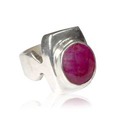 Gallery Design Ruby Agate Stone 19.4 gm 925 Sterling Silver Overlay Ring In 9 US #VKSilvexJaipur #Ring