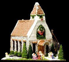 gingerbread house ideas |   Use the dark green trim