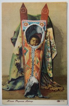 Antique Original Vintage Native American Indian Kiowa Papoose Novelty Postcard   eBay