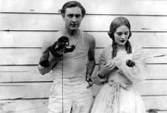 """John Barrymore & Dolores Costello on the set of """"Sea Beast"""""""