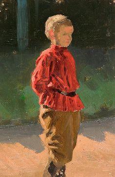 Nicholas Roerich - Study of a Boy (oil on canvas, 1890s)