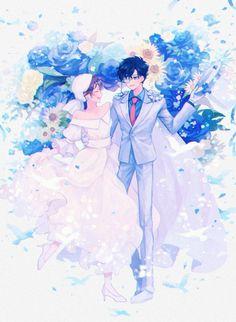 Kaito Kuroba, Conan Comics, Kaito Kid, Beautiful Love Stories, Magic Kaito, Anime Angel, Love Story, Anime Characters, Character Design
