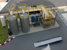 N Scale Chemical Storage Installation 3D printed by Ngineer