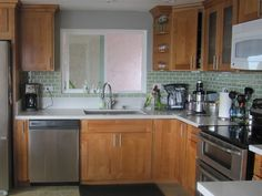 ... with Natural.Below are pictures of Honey maple cabinets we offer