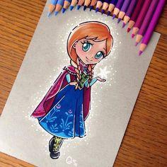 Anna (Chibis by Ltia_Chan @Instagram) #Frozen