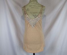 Free People Coral Blouse Tank Size M 100% Shoulder Strings Hippie Cotton #FreePeople #Blouse #Casual