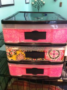 I did it! I transformed the ugly paper sorters into nicer looking ones for my classroom.  Full of color.